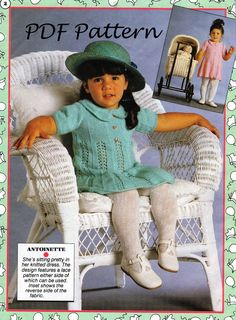 PDF Knitting Pattern / Baby Knitting Pattern / Reversible Baby Dress / 4ply / Digital Download PDF post Free by LoveFromNewZealand on Etsy