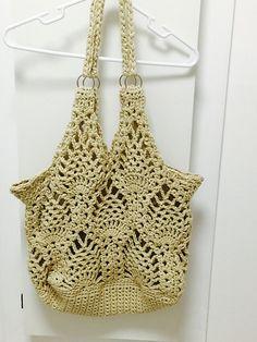 Hand Crochet, Crochet Top, Yarn Needle, Ravelry, Hand Sewing, Purses And Bags, Elsa, Pineapple, Free Pattern