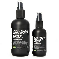 """Tea Tree Water """"Suffering from spots, blackheads or excess oil? Don't fret! And most importantly, don't use a toner laden with skin irritating alcohol. Blemish-prone skin if often more sensitive than we like to give it credit for. Treating breakouts with alcohol can actually further the problem! Our suggestion? Gently, but effectively, treat your skin with Tea Tree Water. The antiseptic tea tree oil clears out blemish causing bacteria, while grapefruit and juniper water balance oil…"""