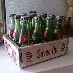 Miniature Seven - Up bottles