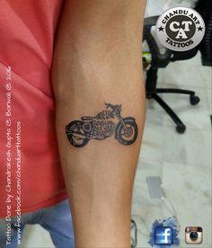 Motorcycle Tattoo Simple Rose Tatoo