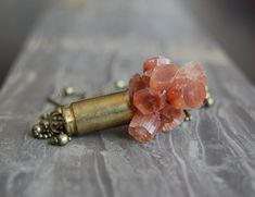 Aragonite Crystal Bullet Necklace by bashfulowl on Etsy, $45.00