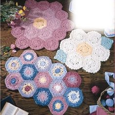Leisure Arts - Flower Garden Rugs Crochet Patterns ePattern, $2.99 (http://www.leisurearts.com/products/flower-garden-rugs-crochet-patterns-digital-download.html)