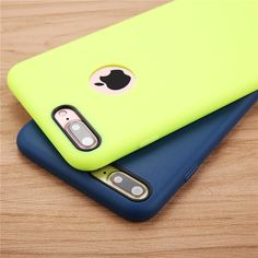 Solid Candy Color Phone Cases for iPhone 7 6 6s Plus 5 5s SE