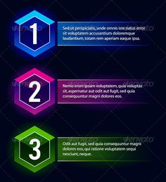 Neon Number Options Banners #GraphicRiver Neon number options banners. Vector illustration. NOTE: you can not retype the text in this vector because its outlined. Created: 30April13 GraphicsFilesIncluded: VectorEPS Layered: Yes MinimumAdobeCSVersion: CS Tags: abstract #advertising #background #banner #business #button #data #form #geometric #infographic #information #label #light #menu #modern #navigation #neon #number #option #order #promotion #sequence #square #step #tab #tag #text #web…