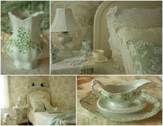 Hello everyone, I just popped in for a few minutes to share some mosaics of some of my transferware china that I thought you might enjoy....