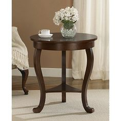 Large Burl Accent Table - Overstock™ Shopping - Great Deals on Coffee, Sofa & End Tables Diy Living Room Furniture, Real Wood Furniture, Home Decor Furniture, Furniture Outlet, Paint Furniture, Online Furniture, Furniture Design, Pedestal Side Table, Wooden Side Table
