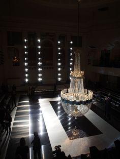 chandelier as a focal point  lovelaceleopard:  love lace leopard <3