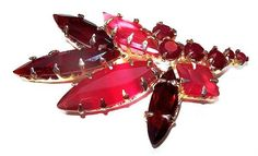 Kendra Scott  Statement Brooch Pink Red by BrightgemsTreasures
