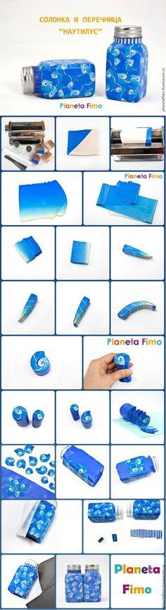 Декорируем стеклянные солонки с помощью полимерной глины FIMO.  Подробно: http://www.livemaster.ru/topic/695877
