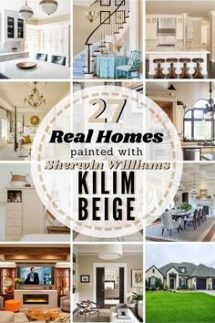 Sherwin Williams Kilim Beige - is it the right neutral paint choice for your home? Compare it with other similar shades and see it in 27 REAL homes so you can judge for yourself! #sherwinwilliams #kilimbeige #sherwinwilliamskilimbeige #paint #kilimbeigecoordinatingcolors #kilimbeigeexterior #kilimbeigekitchen #kilimbeigelivingroom