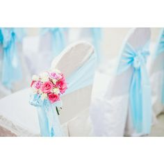 Chinese Beach Reception Decorations Pink And Blue Beach Wedding 39748