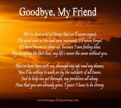 Goodbye, My Friend, my soulmate, my Lexi Girl. Goodbye Quotes For Friends, Losing Friends Quotes, Goodbye My Friend, Quotes About Friendship Memories, Memories Quotes, Friendship Quotes, Baby Memories, Sympathy Poems, Condolence Messages