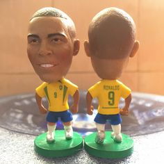 Soccerwe 2016 2.55 Inches Height Football Dolls Brazil Player 9 Ronaldo Doll for Fans Collections Yellow#doll