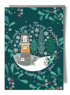We wish you a Merry Christmas and a Happy New Year… – Card by Laura Darrington Marry Christmas Card, Christmas Poster, Christmas Time, Happy New Year Cards, Merry Christmas And Happy New Year, New Year Card Design, New Year Art, Christmas Typography, New Year Postcard