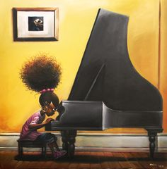 Practice Makes Perfect by Frank Morrison #Art #Painting #Music