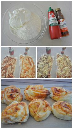 Scrolls for the lunch box with reduced sugar sauce. #sp