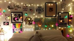 Room goals. Fairy lights. Gabriella Lindley snapchat