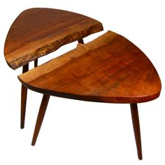 Pair of George Nakashima 'Wepman' Tables United States 1950 From the Collection of David Wepman Natural Furniture, Solid Wood Furniture, Home Decor Furniture, Furniture Projects, Cool Furniture, Modern Furniture, Furniture Design, Table Cafe, Cafe Chairs