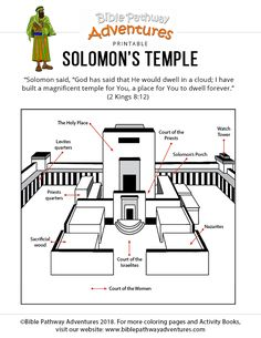 Solomon& Temple Coloring Page Luxury Bible Coloring Page solomon S Temple Bible Story Crafts, Bible School Crafts, Sunday School Crafts, Bible Stories, Bible Lessons For Kids, Bible For Kids, Science Lessons, Bible Coloring Pages, Coloring Pages For Kids