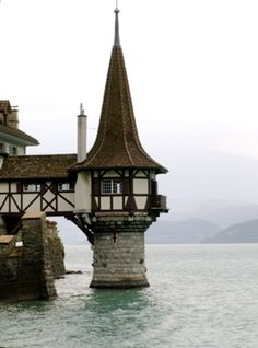 Part of casle in Oberhofen Switzerland