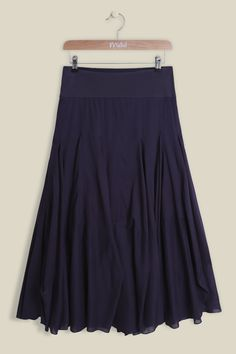 Our Airy Fairy Dobby Skirt is made from lightweight cotton, hanging elegantly below the knees. Sitting comfortably on the waist with a flattering jersey waistband, the full and floaty skirt features soft pleat detailing with dobby inserts. The voile skirt is perfectly paired with one of our jersey tops.