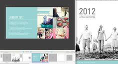 Layout inspiration for family yearbook. This page shows what they did in that month. FABULOUS idea!
