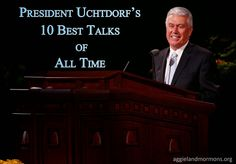 President Uchtdorf's 10 Best Talks of All Time - Aggieland Mormons General Conference Quotes, Conference Talks, Lds Talks, Spiritual Church, Lds Faith, Lds Church, Church Ideas, Lds Scriptures, Church Quotes