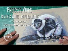 Lemur Painting Using Mixed Media - YouTube Process Art, Lemur, Mixed Media, Youtube, Painting, Paint, Draw, Slow Loris