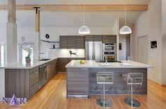 Grey Inspired kithchen in Poggenpohl Cabinetry. El Dorado Hills Contemporary. Nar Fine Carpentry. Sacramento. El Dorado Hills