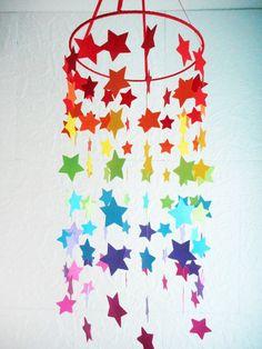 Stars rainbow mobile