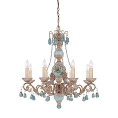 SAVOY HOUSE Lamps | Cerulean 8 Light Chandelier | Shabby chic Style | product available in EUROPE | #LightYourIdeas #SavoyHouse #shabbychic #style #trends #deco #lighting #product #iluminacion #pastel