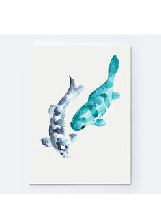 Abstrait animaux de poissons de Koi carpe par ColorWatercolor
