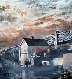 Another atmospheric art work from Tim Garner of Castlefield in Manchester.  Great use of mixed media here with photography combined with paint, grit, and you name it! http://www.artzu.co.uk/category/paintings/tim-garner/