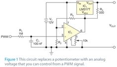 Control an LM317T with a PWM signal