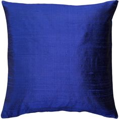 The shimmer of this beautiful 16 inch square ink-blue dupioni silk pillow gives it a depth and richness unique to silk.