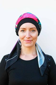 Cancer Scarf Hat *NEW* Silken - Such nice colours on x Scarf Hat, Hair Loss, Cancer, Colours, Nice, Hats, People, Women, Hat