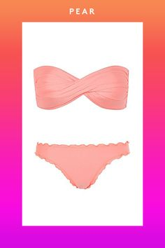 Seafolly Shimmer Twist Bandeau Top, 92.38, available at House of Fraser; Seafolly Shimmer Mini Hipster Bikini Brief, 67.19, available at House of Fraser.