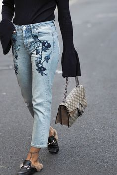 TWO WAYS TO WEAR EMBROIDERED JEANS - A FASHION FIX // UK FASHION AND LIFESTYLE BLOG