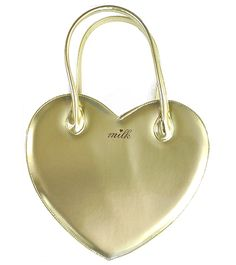 Heart Bag in Gold or Silver by MILK ~ $240