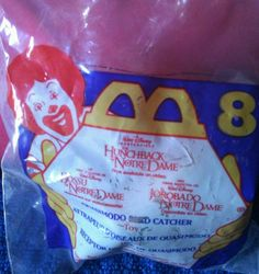 1996 McDonald's Disney #8 HUNCHBACK OF NOTRE DAME -QUASIMODO BIRD CATCHER  #Disney