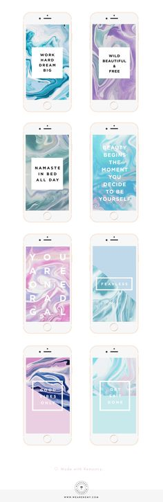 I+love+creating+freebies+for+all+of+you,+this+new+batch+is+8+gorgeous+marble+mobile+wallpapers+made+to+motivate+all+you+go-getters.+-+We+Are+Kemy