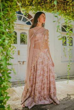 Pleats Mumbai Has The Best Lehengas For You Love this baby pink lehenga choli by Pleats Mumbai Indian Bridal Fashion, Indian Wedding Outfits, Pakistani Outfits, Indian Outfits, Indian Weddings, Wedding Dresses, Indian Lehenga, Pink Lehenga, Lehenga Choli