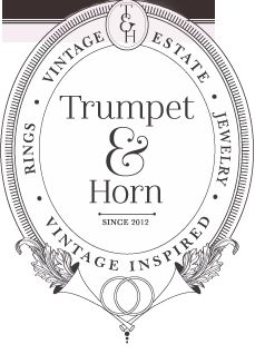 Trumpet & Horn- vintage wedding rings