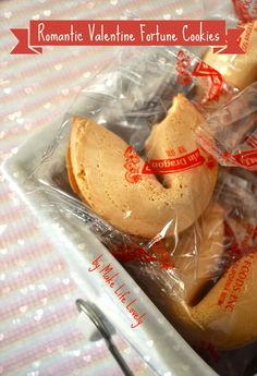 Make Life Lovely: Romantic Valentine Fortune Cookies: Remove Boring Fortunes & Add Your Own Steamy Fortunes!