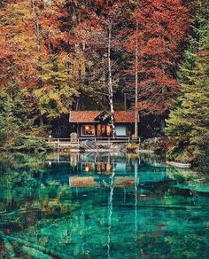 Lake Blausee, BE Switzerland