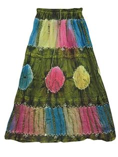 Gypsy Boho Skirt Stonewashed Green Rayon Embroidered Maxi Long Skirts Mogul Interior http://www.amazon.com/dp/B00NEI77TM/ref=cm_sw_r_pi_dp_X0ydub08F5DHS