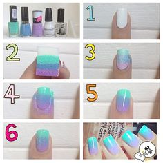 The ombre nail color trend is still a huge hit amongst nail art lovers. If you want to achieve this gorgeous gradient color look at home heres the good news ombre nails are one of the easier nail art techniques that you can do yourself. Ombre Nail Polish, Ombre Nail Colors, Nail Color Trends, Ombre Nail Designs, Nail Polish Art, Diy Nail Designs, Gradient Color, Ombre Nail Art, Art Designs
