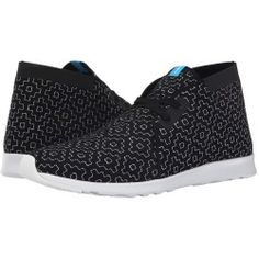 sale Native Shoes - Embroidered Apollo Chukka (Jiffy Black/Shell White/Cross Embroidery) Slip on Shoes