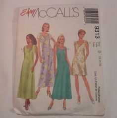 9313 McCall's Misses Dress Sewing Pattern by MammieandPappysPlace